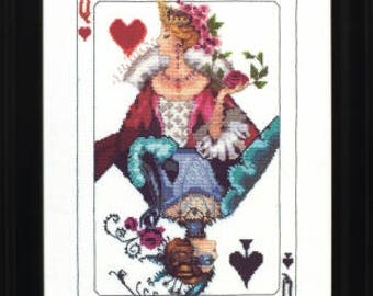 10% OFF Pre-order NEW Royal Games I cross stitch patterns OPTIONAL embellishments by Mirabilia Queen of Hearts Spades