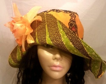 Reversible (2-in-1) African print/dashiki sun hat