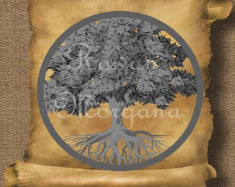 TREE of LIFE Royalty Free Clipart Illustration Wiccan Digital Image Download Printable Graphic Clip Art Transfers Prints HQ 300dpi jpg png