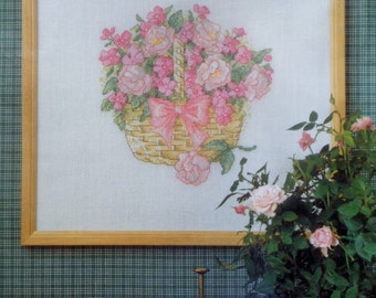 Permin Of Copenhagen | BASKET OF SUMMER | Flowers | Counted Cross Stitch Kit