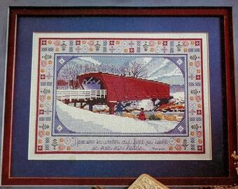 Counted Cross Stitch Pattern   HOGBACK BRIDGE   Susan Cornelison   Bridges Of Madison County   fam
