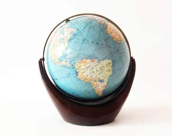 Mid Century German World Globe by Colombus Erdglobus Werkstudio Jugenheim