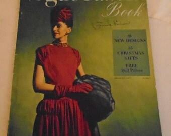 Vintage Vogue Pattern Book December-January 1945-46 WWII Era Complete