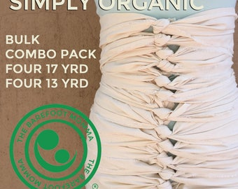 Organic Bengkung Belly wrap/ G.O.T organic cotton/combo  bulk pk/ natural fray edge/  bengkung belly bind/ postpartum care/ doulas/ midwives