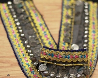 Vintage Kuchi Tribal Belly Dance Belt, Costume Renaissance Hippie Gypsy