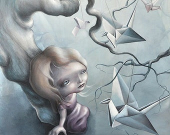 """Limited edition Giclee print """"Tug this string"""""""