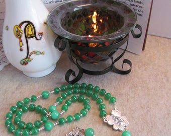 Green Irish Catholic Rosary