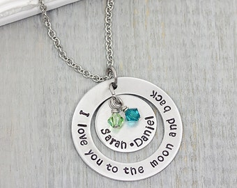 Hand Stamped Necklace - Hand Stamped Washer Necklace - Personalized Jewelry