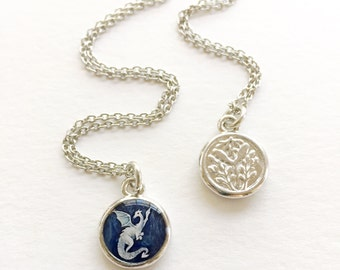 Silver Dragon NECKLACE | Dragon gift for kids, girls and boys, gift for young at heart, magic jewelry