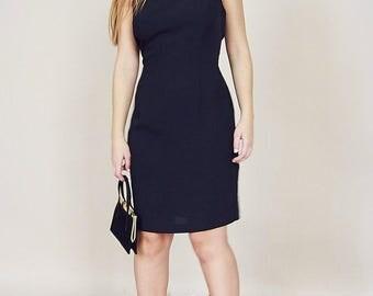 90's Vintage Black Fitted Dress