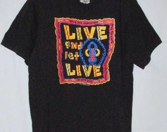 Vintage 90s Save The Rainforest T-Shirt, Live and Let Live, Earth Foundation, Made in USA