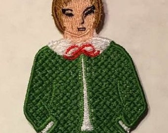 Nutcracker Suite Clara's Brother Fritz Embroidered Lace Ornament