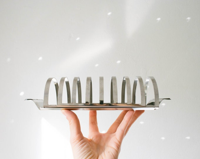 Vintage Quist Stainless Steel Toast Rack // Sunday Brunch // Mid Century Kitchen // Letter Holder