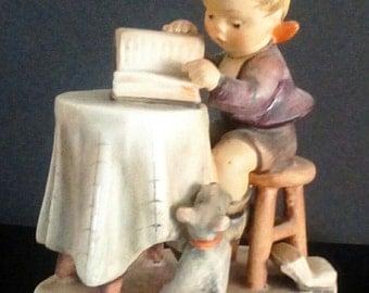 Vintage Signed Hummel Little Bookkeeper Figurine, Goebel