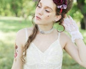 The Papillon fantasy cosplay flower crown