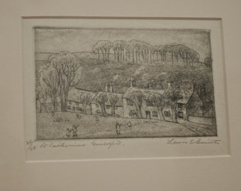 1890s Group of Seven contemporary early modern CANADIAN Lewis Edward Smith signed etching collectible art