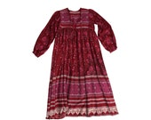 Simply Stunning and Rare Red Indian Gauze Dress