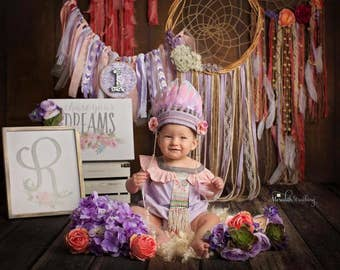 Baby Indian Headdress,Pink,Lavender,White,Feather Crown,Toddler Headdress,girls Headdress,Adult Headdress,Indian Party,Native American