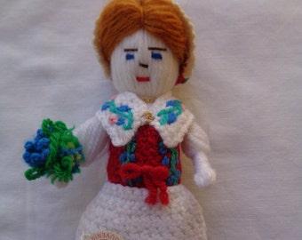 Handmade Souvenir Folk Art Doll From Dalsland, Sweden