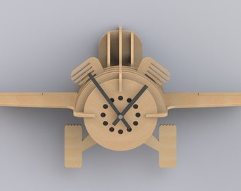 3D airplane flying out of the wall, clock propeller, children clock, bedroom decoration