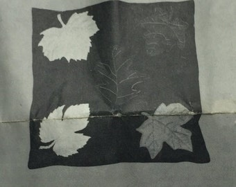 Vintage American Handcraft Society Autumn Leave Pillow Cover Embroidery Kit