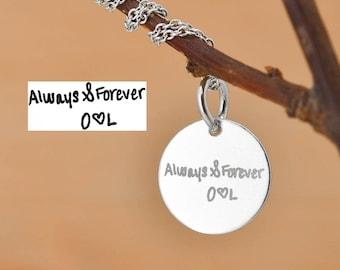 Handwriting Necklace, Handwriting Jewelry, Engraved Necklace, Engraved Jewelry, Personalized Necklace, Bridesmaid Gift, Best Friend, Sister