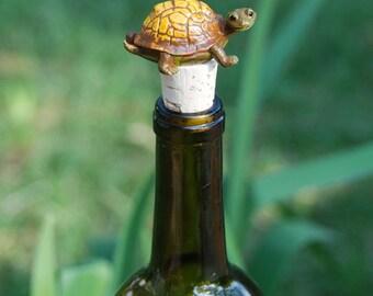 Tortoise Wine Bottle Stopper