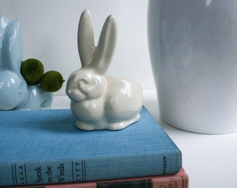 White Bunny Planter, Easter Decorations, Indoor Planter