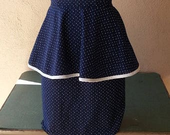 Polka dot  dress with peplum by Merry Go Round vintage 80s size 3