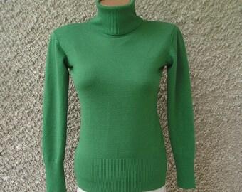 Vintage knit LUREX cowl neck sweater, size S-M