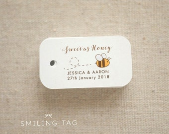 Sweet as Honey Gift Tags - Honey Wedding Favor Tags - Thank you tags-  Honey Bottle Tags - Wedding Gift Tags - Set of 40 (Item code: J611)