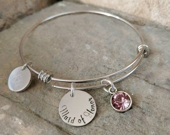 Maid of Honor Gift - Maid of Honor Bracelet -Matron of Honor Bracelet - Matron of Honor Gift - Bridesmaid Gift - Bridesmaid Jewelry