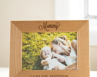 Personalized Mom Picture Frame: Custom Engraved Mom Picture Frame, Personalized Gift Mom, Unique Mom Picture Frame, Mom Frame from Child