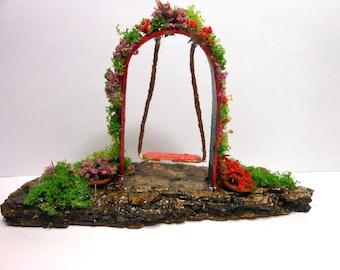 Fairy Swing-OOAK-Fairy Garden Swing/Terrarium Swing