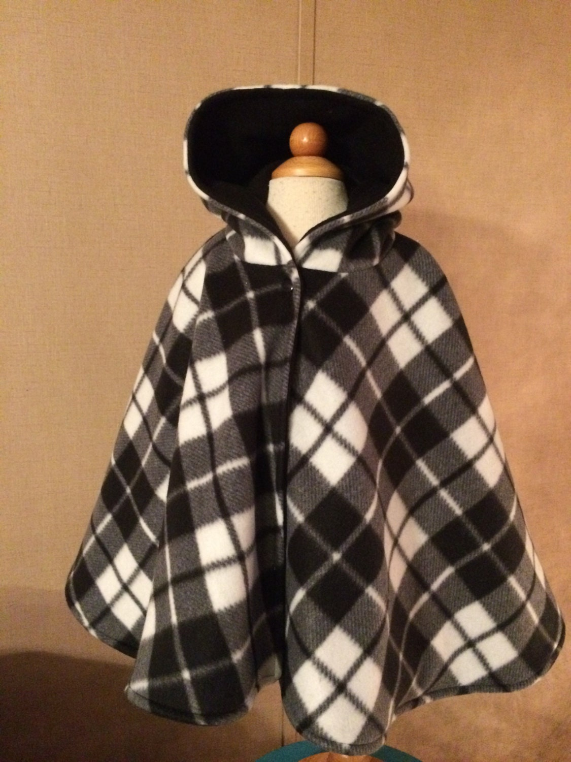 Car Seat Poncho Reversible Buffalo Plaid Kids Carseat Coat