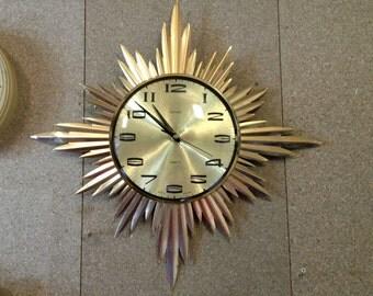 Metamec Starburst Clock - Vintage Sunray Clock