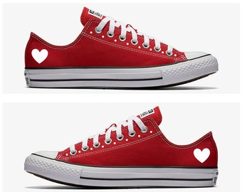 Converse Hand Painted Heart Design