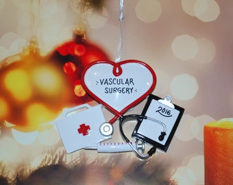 Personalized Doctor Physician Nurse Christmas Ornament