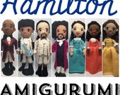 Hamilton Musical Amigurumi Crochet dolls Pattern Set