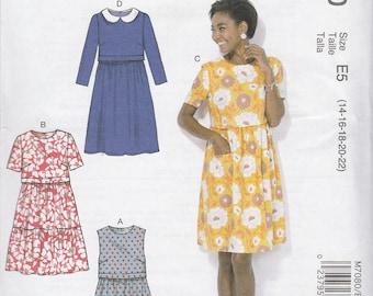 Simple Dress Pattern McCalls 7080 Sizes 14 - 22 Uncut