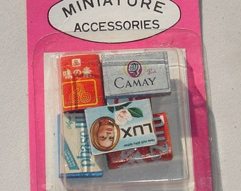 Vintage Food Boxes Doll House Miniature - 1/12 Scale