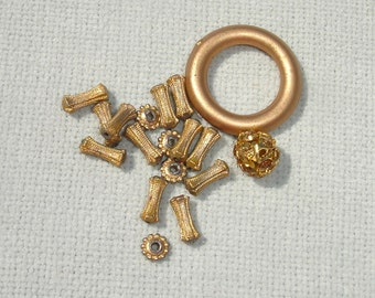 Golden Beads - 15 pcs - Jewelry Making Supplies
