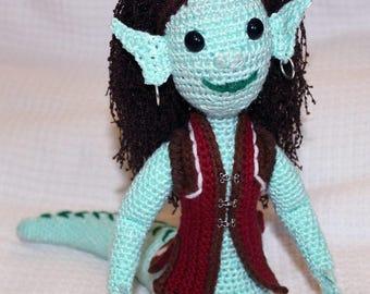 Nagini, crochet amigurumi plush mythical creature