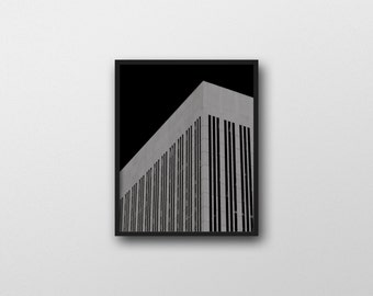 BILLENNIUM | Architecture photo | black and white art print | brutalism inspired photography | abstract photography | office wall art decor