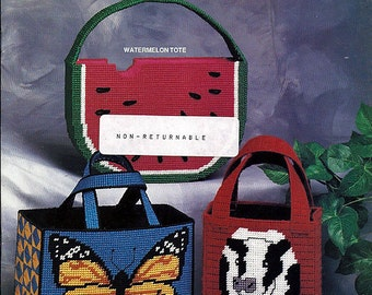 Tote-A-Long Totes Plastic Canvas Pattern Book Annie's Attic 87K23