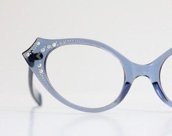 Vintage 60's Rhinestone Prop Cat Eye Frames - Not for prescription lenses