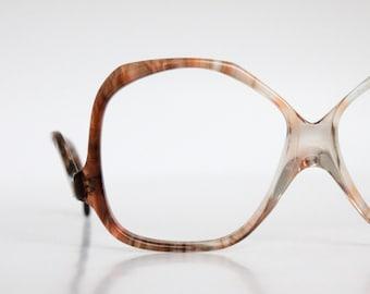 Vintage 70's Drop Arm Tortoise Shell Eyeglasses Frames