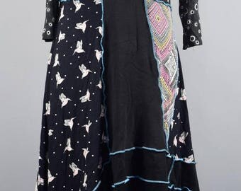 Ready To Ship ,Up-cycled Lagenlook Tunic .UK Seller, Ship Worldwide.