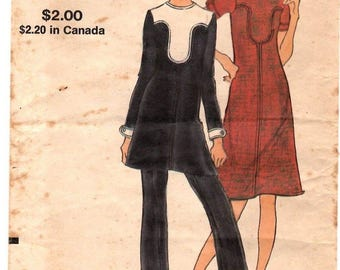 Vogue Pattern 8130 Size 12   1960's Tunic Dress & Pants