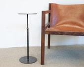DV Drink Table - Blackened Steel Side Table